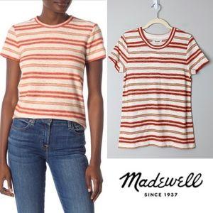 MADEWELL Striped Knit Shrunken T-Shirt Size XL